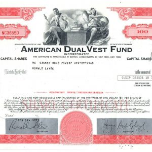 American Dual Vest Fund 100 shares