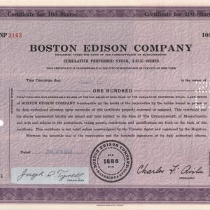 Boston Edison Company 100 acciones