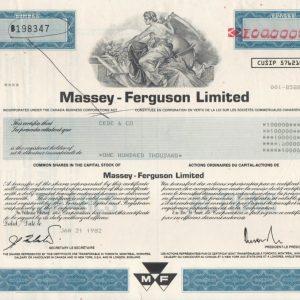 Massey-Ferguson Ltd 100000 acciones