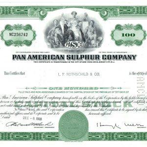 PAN American Sulphur Company 100