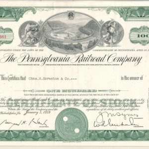 The Pennsylvania railroad Company 100 shares